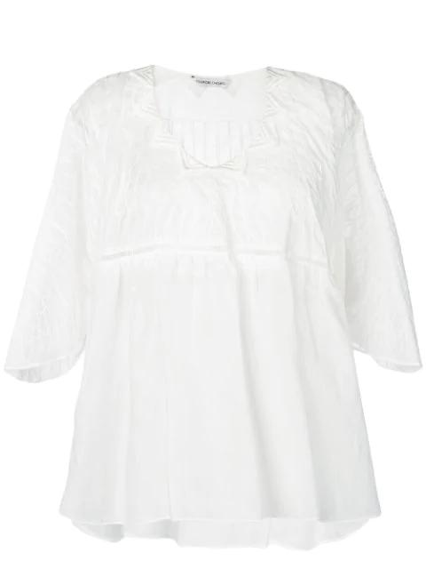 Tsumori Chisato Embroidered Blouse In White
