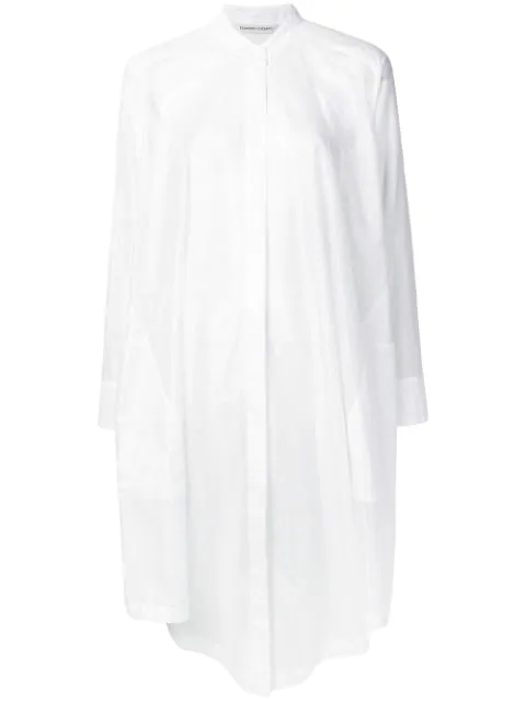 Tsumori Chisato Oversized Flared Shirt In White