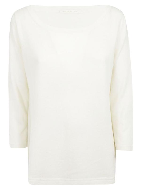 Saverio Palatella Round Neck Sweater In Ivory