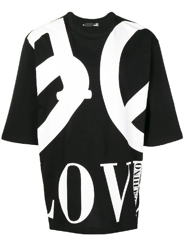 0c9a078eeaea Love Moschino Oversized Logo T-Shirt - Black | ModeSens