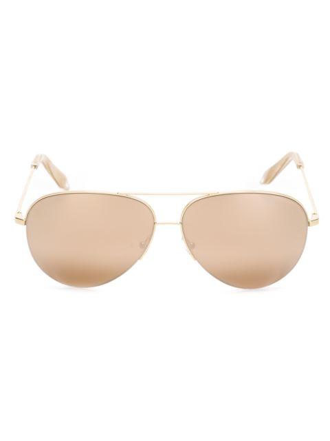 14da398e6b69 Victoria Beckham Classic Victoria 18Kt Gold-Plated Sunglasses In Metallic