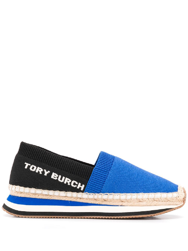 026c8955752b Tory Burch Logo Espadrilles - Blue. Farfetch
