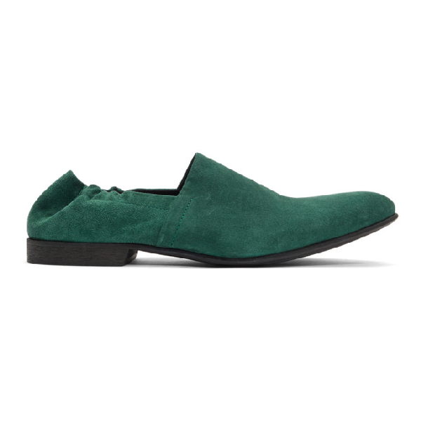Haider Ackermann Suede Slip-on Loafers In 043 Green