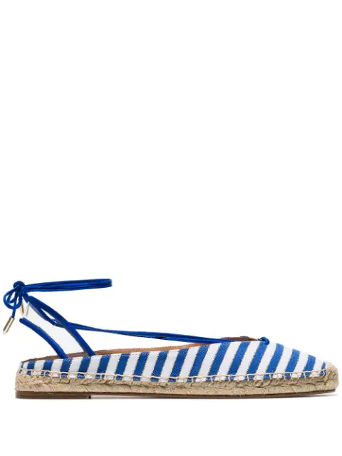 Aquazzura Blue And White Striped Espadrilles