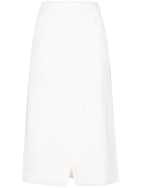 Beaufille Kari Pleated Midi Skirt - White