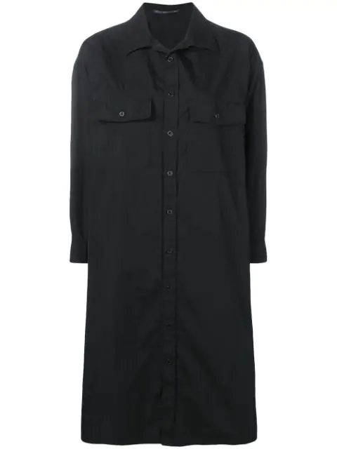 Yohji Yamamoto 'Invitation' Hemdkleid - Schwarz In Black