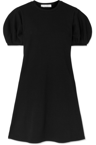 Beaufille Leda Ribbed Cotton-Blend Jersey Mini Dress In Black