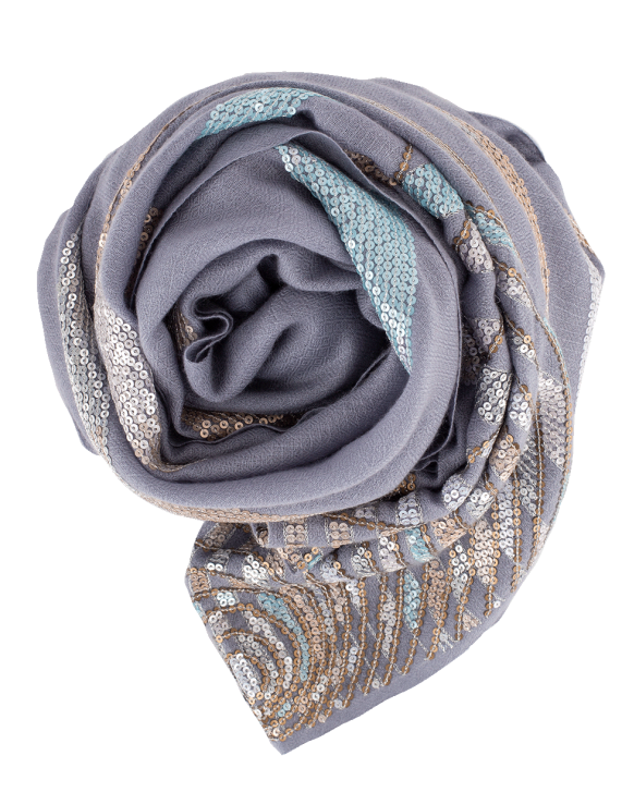 K. Janavi A Starry Night Scarf In Lilac