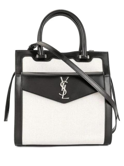 Saint Laurent Small Uptown Tote Bag In Black