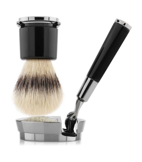Acqua Di Parma Shaving Brush And Razor In White