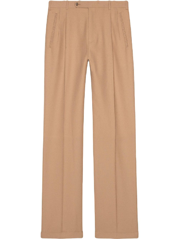 fa5406fab Gucci Long Wool Trousers - Neutrals In 1599 Beige | ModeSens