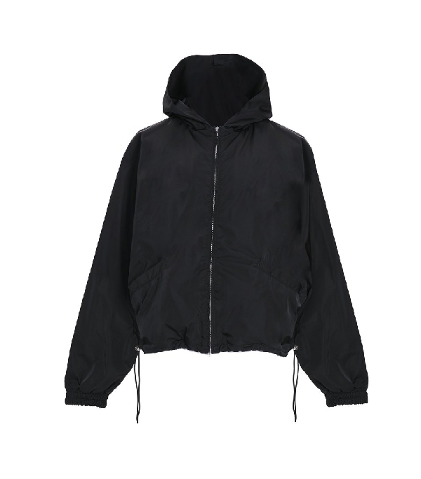 Fear Of God Heavy Nylon Full Zip Hoodie Black