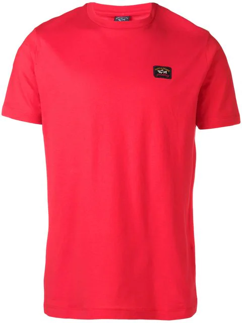 Paul & Shark Logo Patch T-shirt In Red