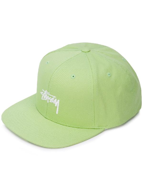 184c75c0d8598 Stussy Logo Front Baseball Cap - Green