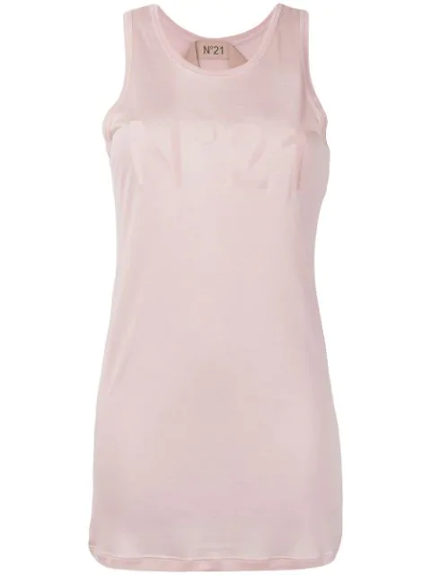 N°21 Logo Vest Top In Pink
