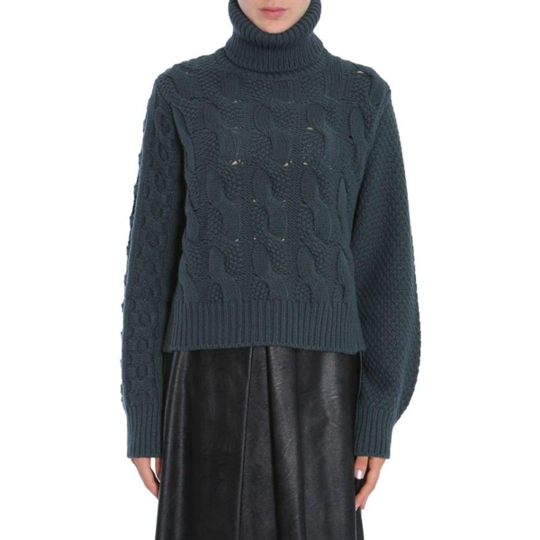 Mm6 Maison Margiela Maison Margiela Women's Green Wool Sweater