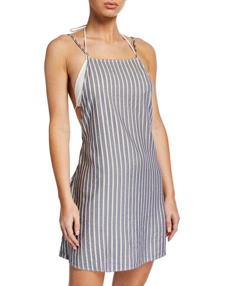 7b0f8dcdd150 Onia Sasha Striped Coverup Mini Dress In Blue Multi   ModeSens