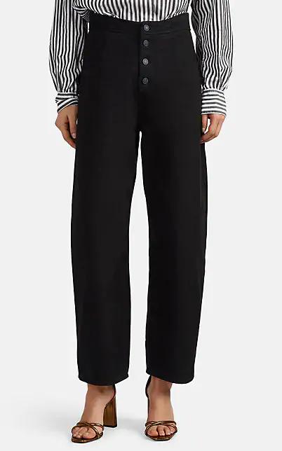 Nili Lotan Toledo High-Rise Crop Jeans In Black