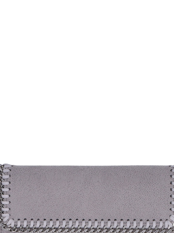 Stella Mccartney Falabella Continental Wallet In Grey