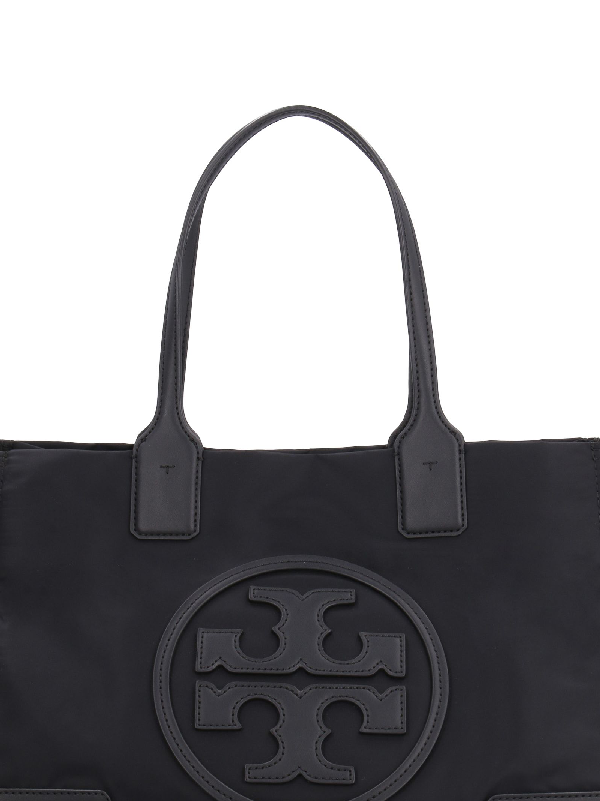 769fd9be48c12e Tory Burch Ella Nylon Tote Bag With Faux Leather Details In Black ...