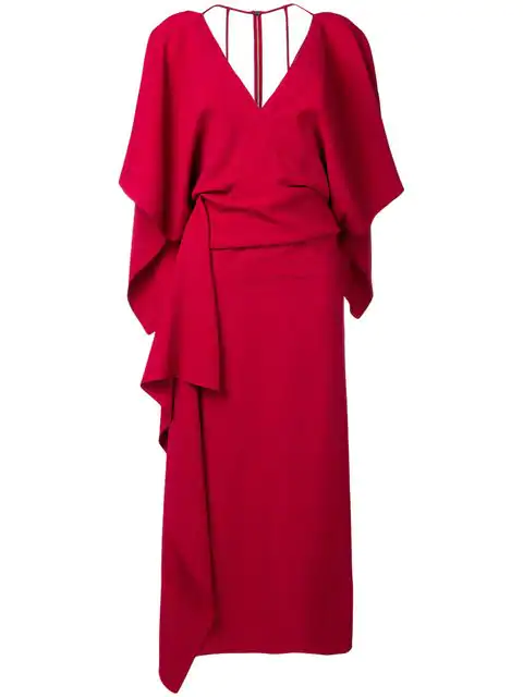 Roland Mouret Vincent Crêpe Dress In Red