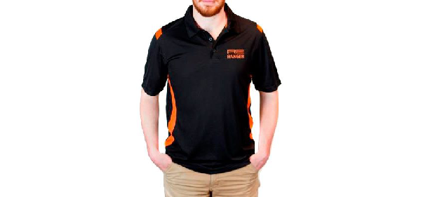Re Ranger Athletic Polo Shirt Men's In Black And Orange