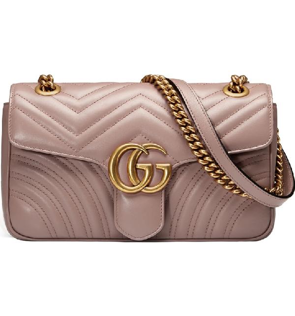 Gucci Small Gg Marmont 2.0 MatelassÉ Leather Shoulder Bag In Porcelain Rose/ Porcelain Rose