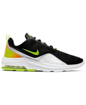 Nike Men's Air Max Motion 2 Casual Sneakers From Finish Line In Black/Volt-White-Total Or