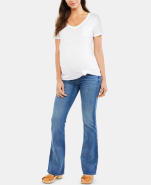 7 For All Mankind Maternity Flared-Leg Jeans In Primm Valley