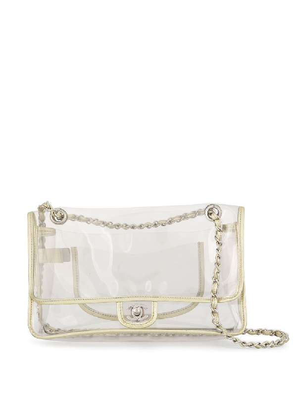 19d36eb14ce4 Chanel Pre-Owned Double Chain Shoulder Bag - Farfetch In Gold | ModeSens
