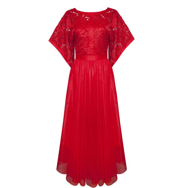 Ukulele Clara Dress Red