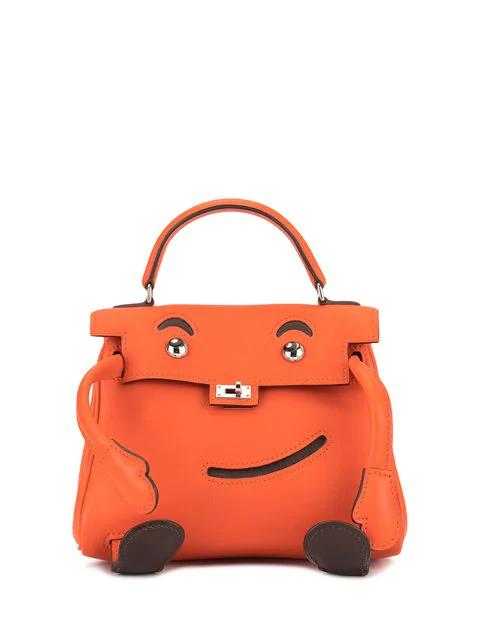 Hermes 2000 Pre-owned Kelly Doll Bag In Orange