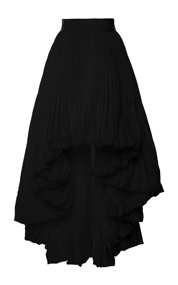 47efbe52 Alexandre Vauthier Ruffle Faille Skirt In Black | ModeSens