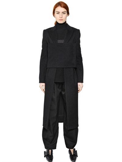 J.W.Anderson Paneled Wool Coat In Black