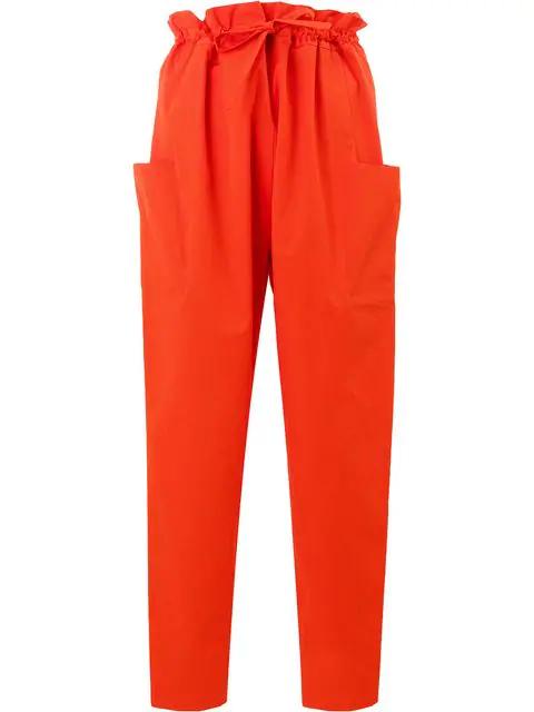 Maison Rabih Kayrouz Paper Bag Trousers In Red