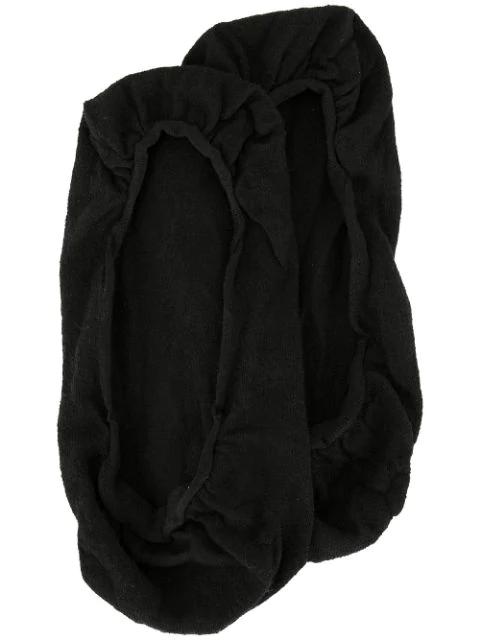Wolford Women's Cotton Footsies Socks In Black