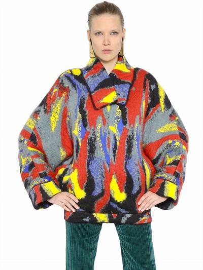 J.W.Anderson Wool Jacquard Kimono Style Sweater In Multicolor