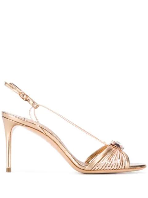 Casadei Cri Sandals In Gold