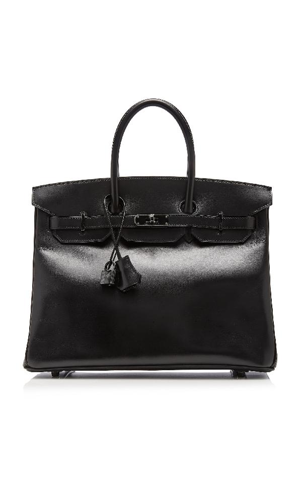 "HermÈS Vintage By Heritage Auctions HermÈS 35Cm So Black Calf Box Leather Limited Edition ""So Black"" Birkin"