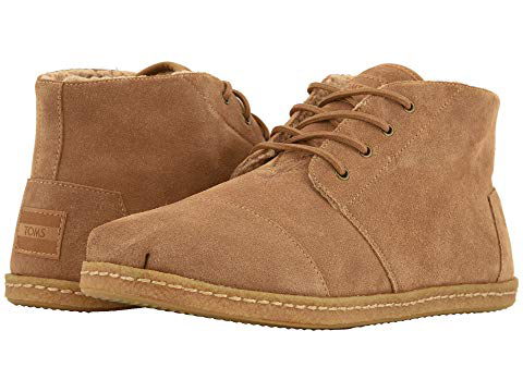 Toms , Toffee Suede W/ Faux Shearling On Crepe