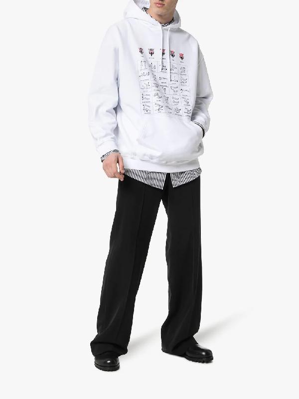 neues Erscheinungsbild vielfältig Stile Professionel Balenciaga Kapuzenpullover Mit Workout-Print in 9044 White