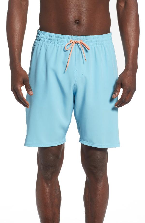 85aa2ffdb8 Nike Retro Stripe Volley Swim Trunks In Blue Gaze   ModeSens