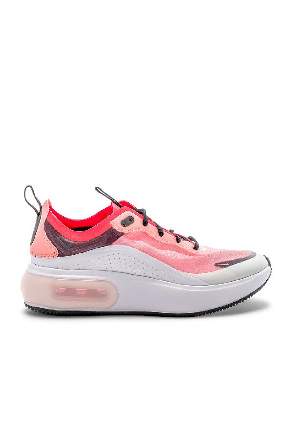 Nike Women's Air Max Dia Low-Top Platform Sneakers In Off White  Black & Crimson