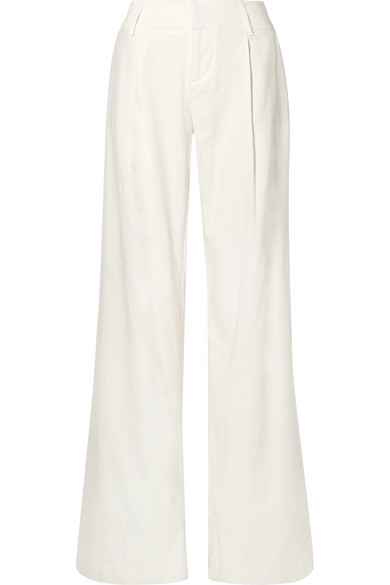 Alice And Olivia Alice + Olivia Eric Wide-Leg Pants In White
