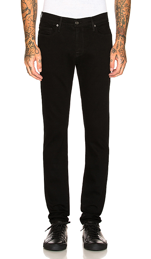 Frame L'homme Skinny Fit Jeans In Fade To Grey In Noir