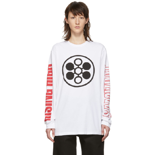 Yang Li White Samizdat Rising High Long Sleeve T-shirt In 01 White