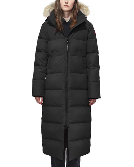 Canada Goose Mystique Fur-Hood Parka In Black
