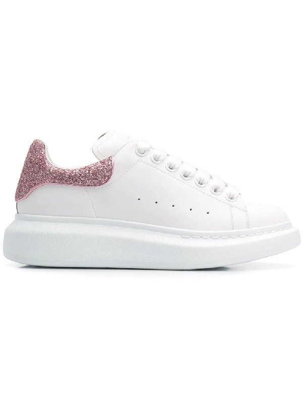 Alexander Mcqueen Embellished Low-Top White Leather Trainers