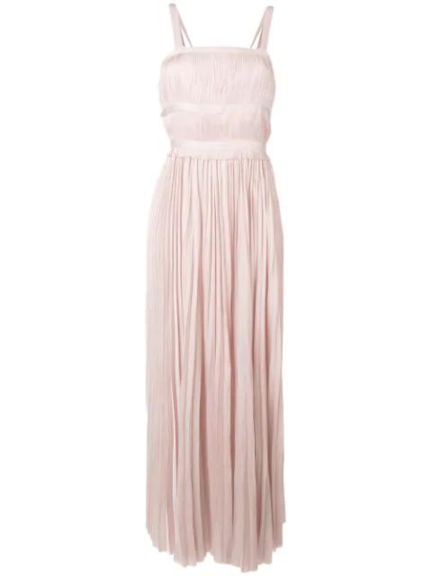 Ulla Johnson Sleeveless Pleated Dress In Peony