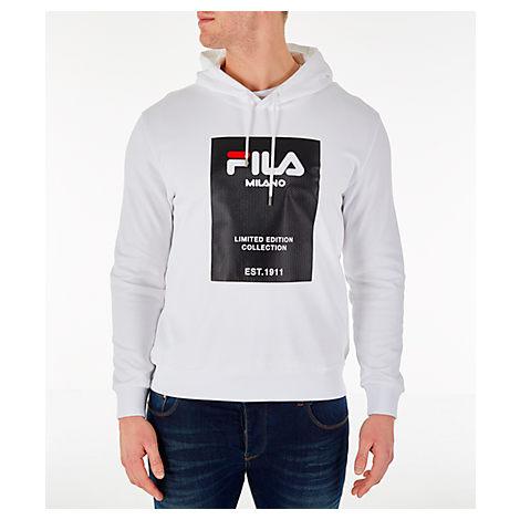 Fila Men's Milano Fw Hoodie, White - Size Xlrg